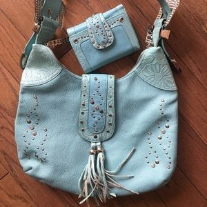 CHARM AND LUCK 🍀 Designer Bag w/ Matching Wallet